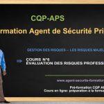 ÉVALUATION DES RISQUES PROFESSIONNELS – COURS CQP APS