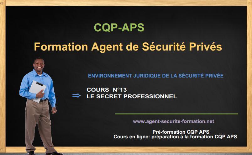 Le Secret Professionnel Cours C Q P A P S Formation