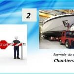 Agent de sécurité sur sites de chantiers navals