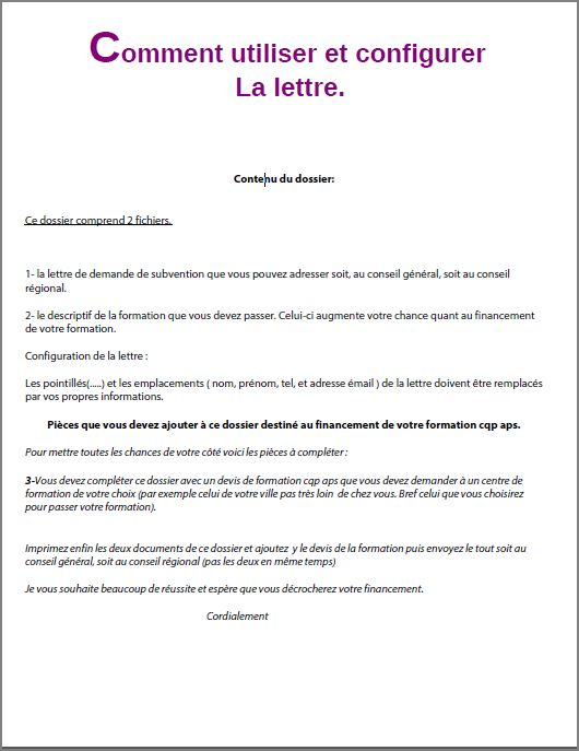 modele lettre de motivation ssiap 2