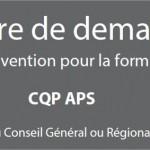 Financement au conseil régional pour la formation CQP APS